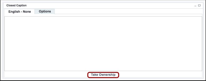 Take Ownership