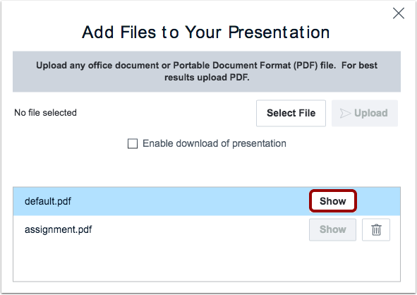 Show Different File