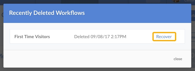 Recover Workflow
