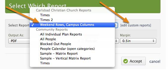Custom Reports: