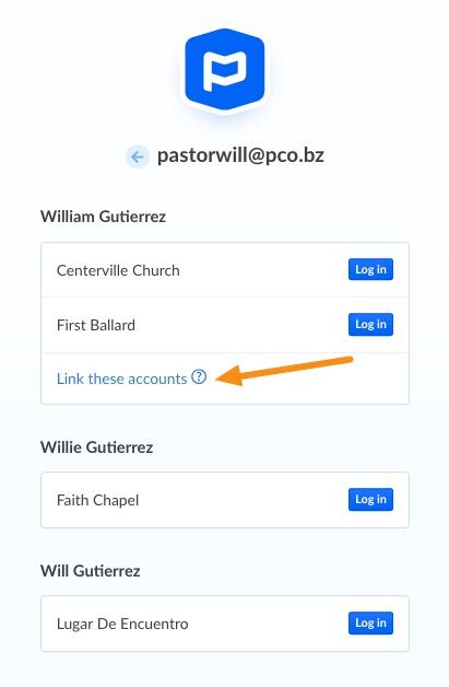 link accounts option