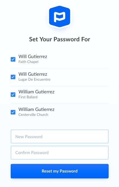 check accounts to change password