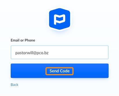 send code
