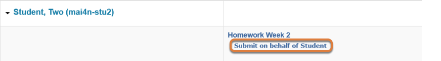 Click Submit as Student.