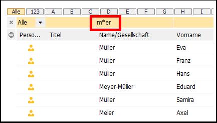 Zahlen und Wörter filtern