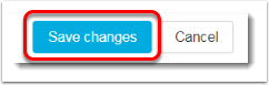 Save changes button is selected.