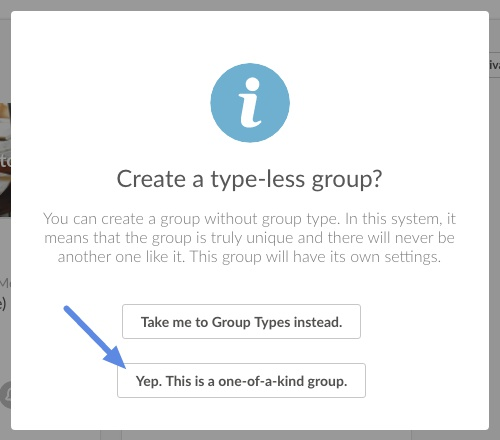 Confirm adding unique group