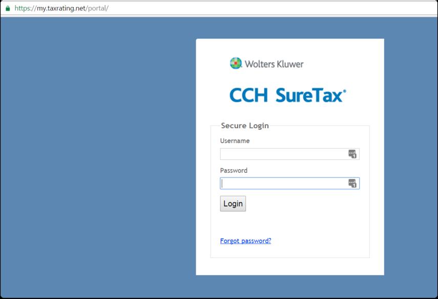SureTax Monthly Tax Report