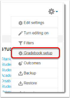 Select Gradebook settings.