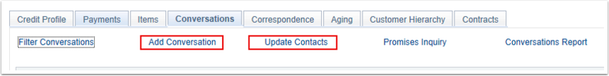 Update Contacts Link