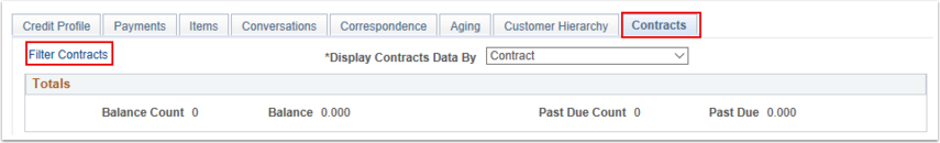 Contracts Tab