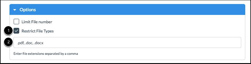 Restrict File Types