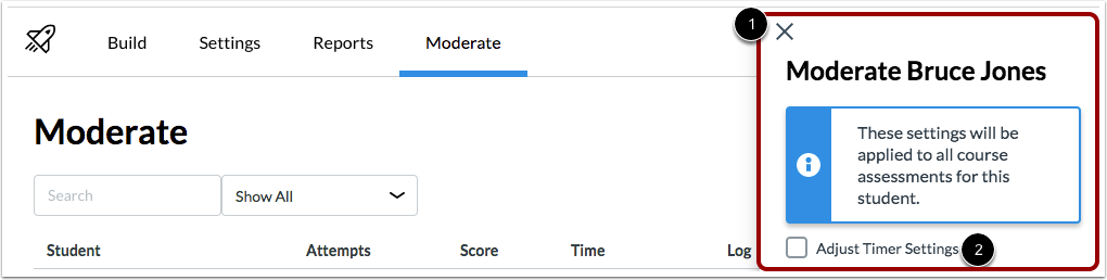 Adjust Timer Settings