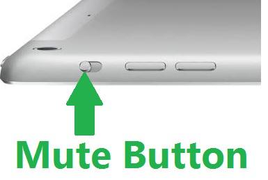 Check the mute button