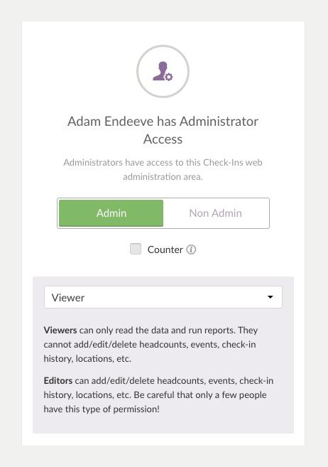 Admin permissions