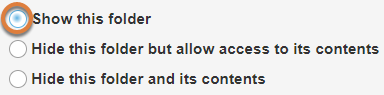 Show this folder button