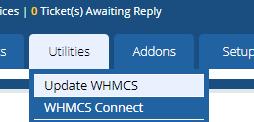 Utilities > Update WHMCS