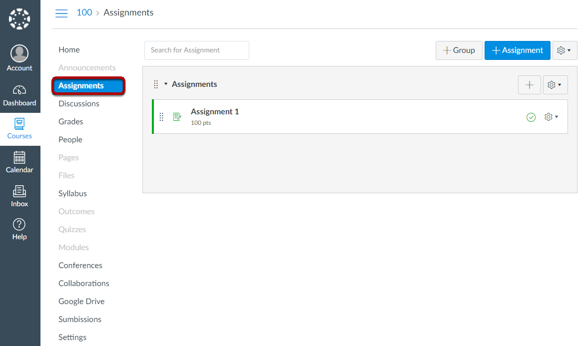 In your Canvas site, go to Assignments.