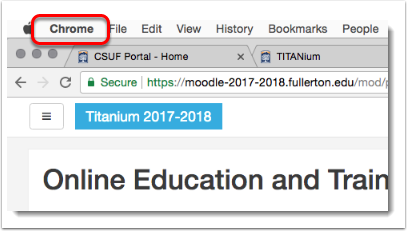 Chrome button is selected.