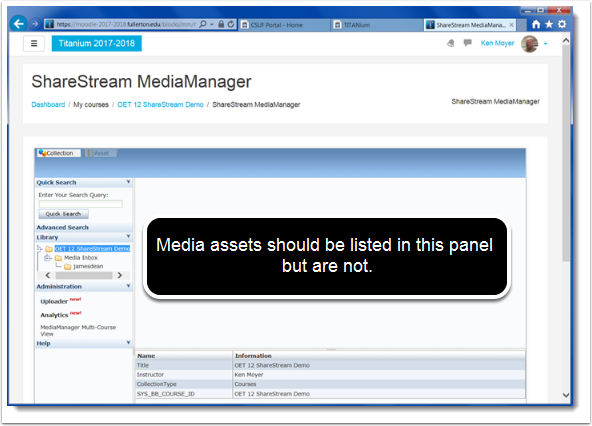 MediaManager page