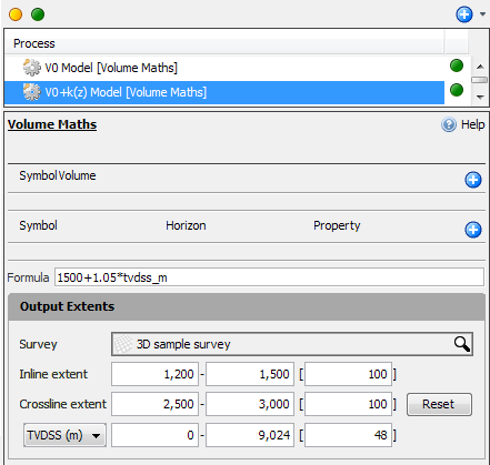 Create a simple V0 + k(z) model