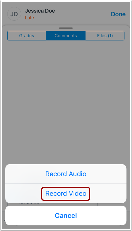 Record Audio Comment