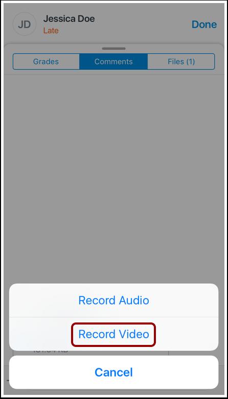 Record Audio Comment
