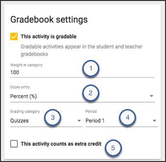 Image of the gradebook settings card.