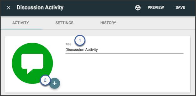 image showing custom activity panel
