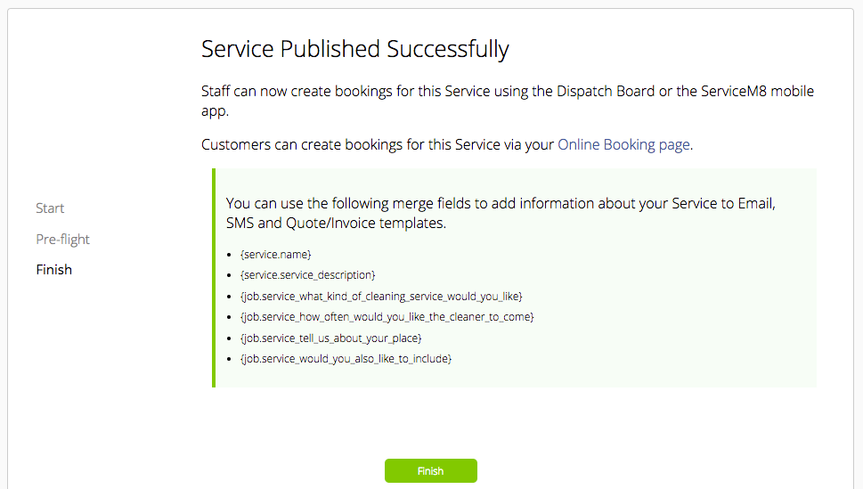 how to create online booking forms services servicem8 help