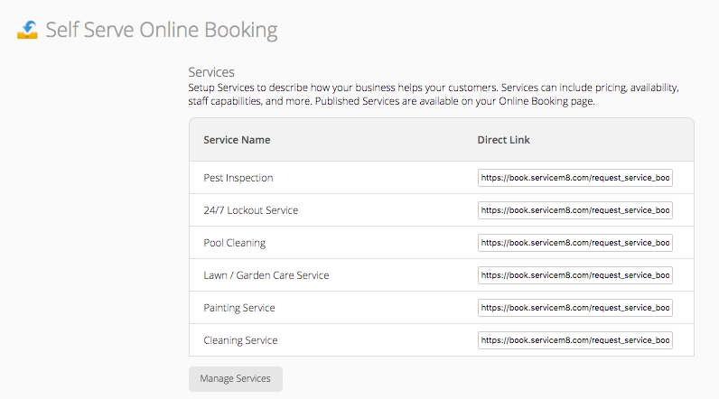 How to create Online Booking Forms & Services