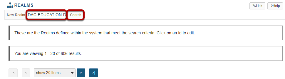 Enter the site id for the site you are looking for and click Search.