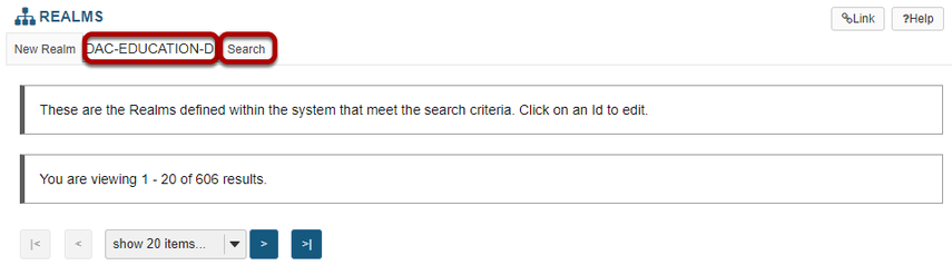 Search and locate the site you want to edit.