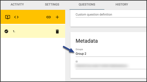 image of group metadata panel