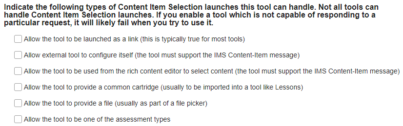 Content Item Selection launches.
