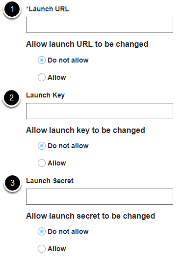 Launch settings