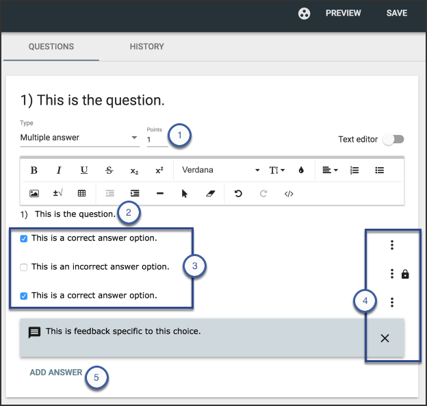 Create Multiple Choice Questions – Pearson Connexus Support