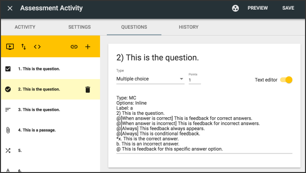 Image of assessment activity multiple choice question.