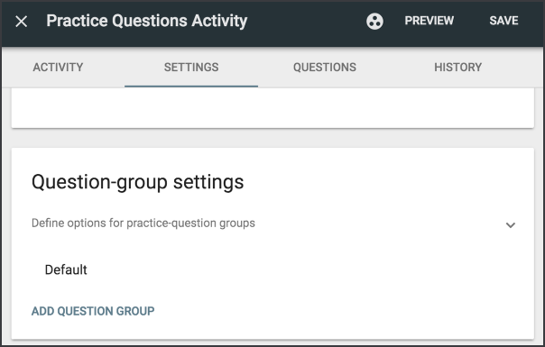 Create question groups