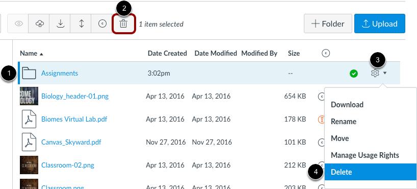 Delete Folder