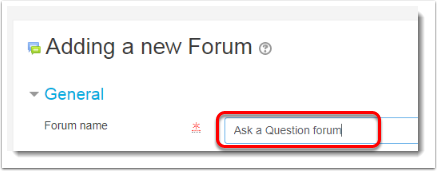 Type a title for the forum.