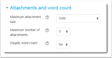 Attachments and word count fields