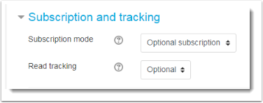 Subscription and tracking