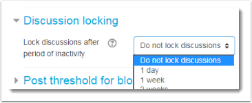 Do not lock discussions is selected.