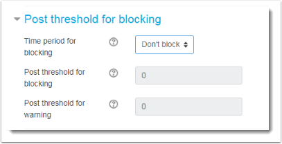 threshold for blocking is selected.