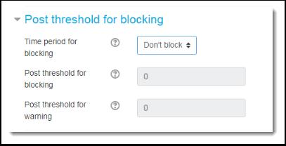 Post threshold for blocking