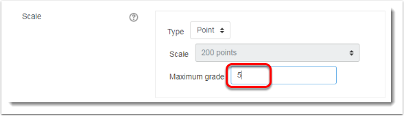 Maximum grade is 5