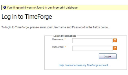 If your fingerprint cannot be found...
