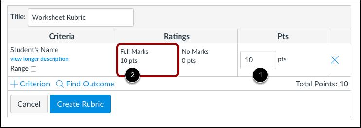 Edit Point Value