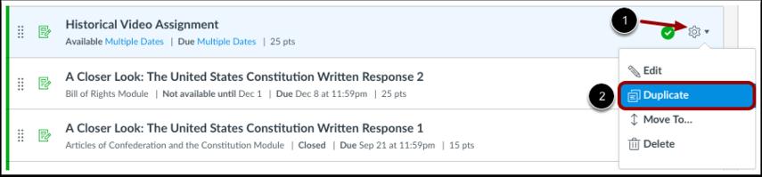 Duplicate Assignment